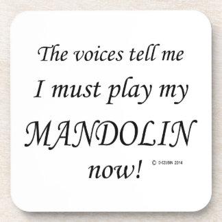 Las voces de la mandolina dicen deben jugar posavasos de bebida