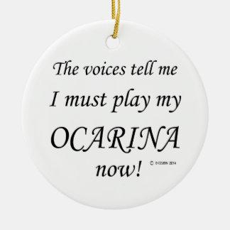 Las voces de Ocarina dicen deben jugar Adorno Redondo De Cerámica