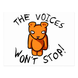 Las voces no pararán - el peluche loco de Ushio Postales