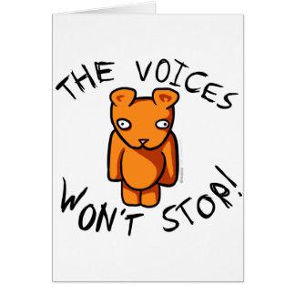 Las voces no pararán - el peluche loco de Ushio Tarjeta De Felicitación