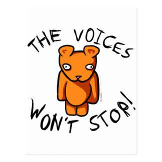 Las voces no pararán - el peluche loco de Ushio Tarjetas Postales