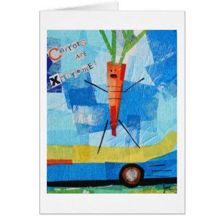 Las zanahorias son X-treme Felicitaciones