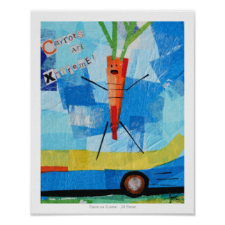 Las zanahorias son Xtreme Posters
