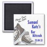 Las zapatillas de deporte barran/el imán de Mitzva