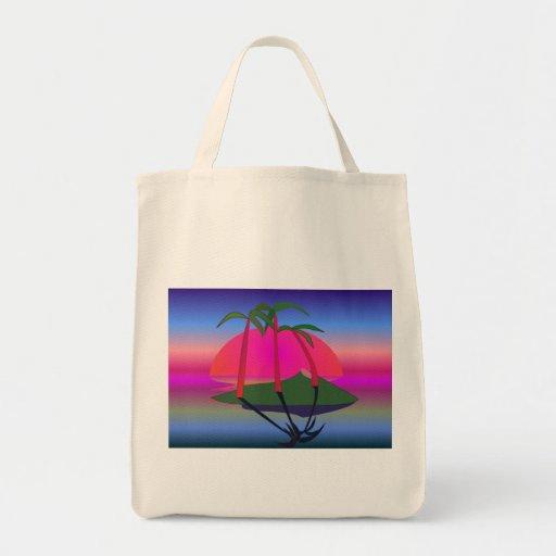 Las zonas tropicales - bolsa tela para la compra