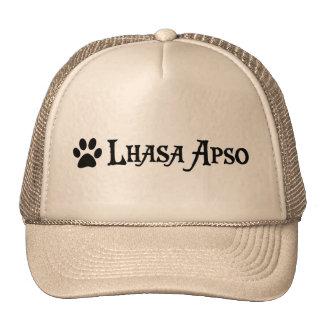 Lasa Apso (estilo del pirata con el pawprint) Gorras