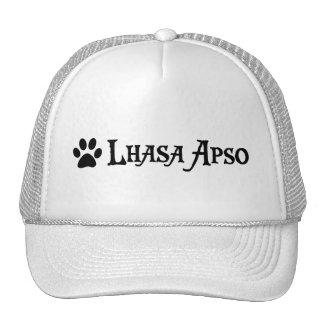 Lasa Apso (estilo del pirata con el pawprint) Gorras De Camionero