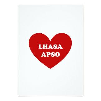 """Lasa Apso Invitación 5"""" X 7"""""""