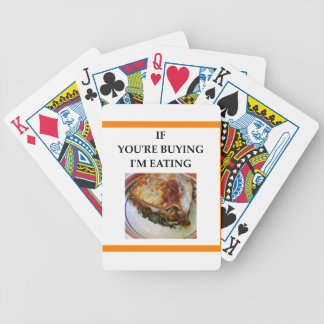 LASAGNA BICYCLE PLAYING CARDS
