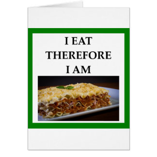 lasagna card