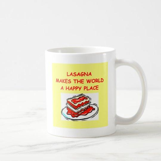 lasagna coffee mug