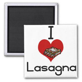 Lasagna de amor y odio I Imán Cuadrado