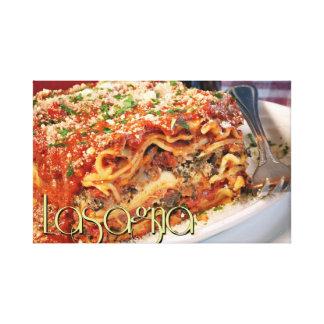 Lasagna Dinner at Italian Restaurant II Canvas Print