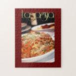 Lasagna Dinner at Italian Restaurant Puzzle