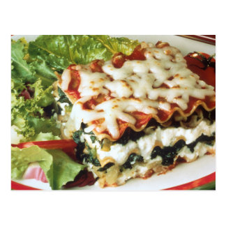 Lasagna Dinner Postcard
