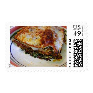 Lasagna Food Postage Stamps