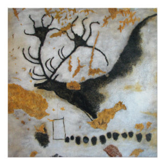 Lascaus Megaloceros Cave Painting Poster