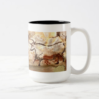 Lascaux Cave Painting: Bulls Two-Tone Coffee Mug