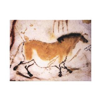 Lascaux Dun Horse - Prehistoric Panting on Canvas