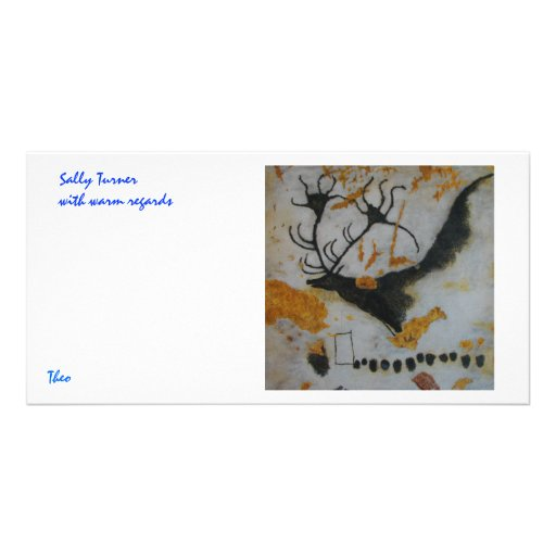 Lascaux Giant Deer Custom Photo Card