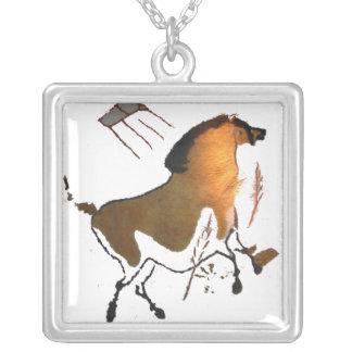 Lascaux Horse Square Pendant Necklace