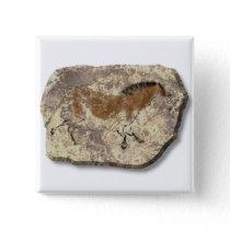 Lascaux  Horse stone Pinback Button