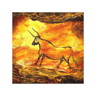 Lascaux Prehistoric Cave Painting of Bull Canvas