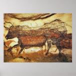 Lascaux prehistoric cave painting print