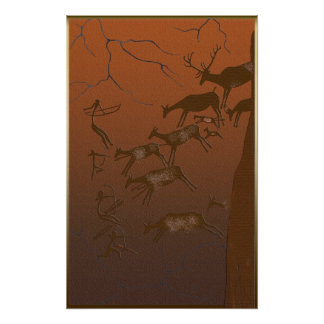 Lascaux Stag Hunting Poster