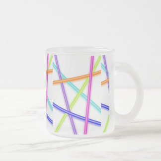 laser beam frosted glass coffee mug