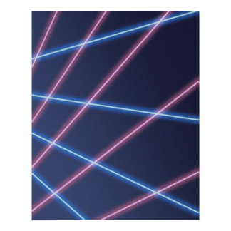 Laser-beam School Portrait Backdrop Poster