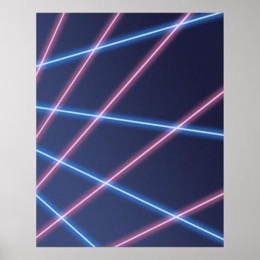 Beach Themed Laser-beam School Portrait Backdrop Poster