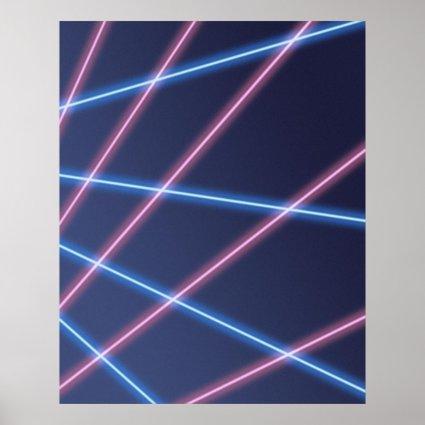 Laser-beam School Portrait Backdrop Print