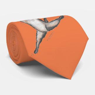 'Laser Bin' Orange Tie