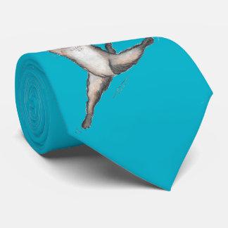 'Laser Bin' Turquoise Tie