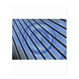LASER BLUE FRACTAL POSTCARD