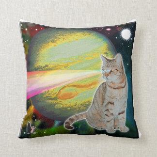 Laser-Cat Mossbody Throw Pillow