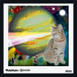 """Laser-Cat Mossbody Wall Sticker<br><div class=""""desc"""">My """"Space-Cat"""" series of Wall Decals feature 5 of my feline friends, both past and present. They are in deep space experiencing far out adventures. You can share their adventure in spirit when you decorate your space with their images. Collect all 5 of the series to create a 5-pane display....</div>"""