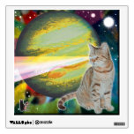 """Laser-Cat Mossbody Wall Sticker<br><div class='desc'>My """"Space-Cat"""" series of Wall Decals feature 5 of my feline friends, both past and present. They are in deep space experiencing far out adventures. You can share their adventure in spirit when you decorate your space with their images. Collect all 5 of the series to create a 5-pane display....</div>"""