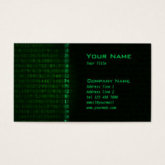 Laser Data scan Business Card