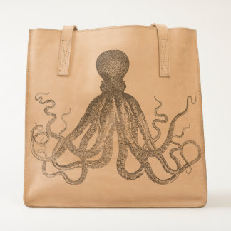 Laser-etched Octopus Tote