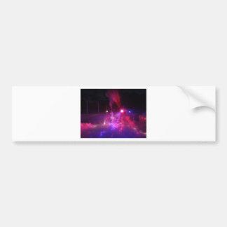 laser excitement bumper sticker