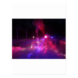 laser excitement postcard
