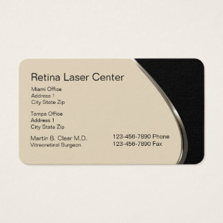 Laser Eye Care Center Business Card