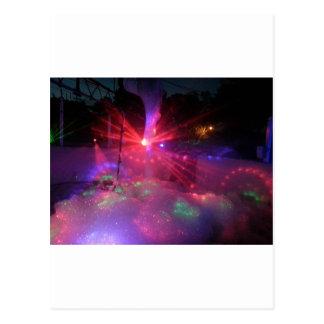 Laser Foam Party Postcard