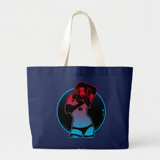 Laser Girl striptease Large Tote Bag