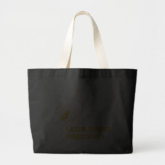 Laser-Guided Democracy / Peace through Firepower Tote Bag