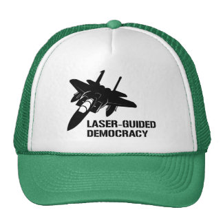 Laser-Guided Democracy / Peace through Firepower Trucker Hat