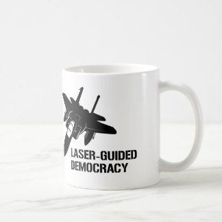 Laser-Guided Democracy / Peace through Firepower Classic White Coffee Mug