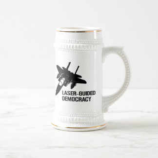 Laser-Guided Democracy / Peace through Firepower 18 Oz Beer Stein